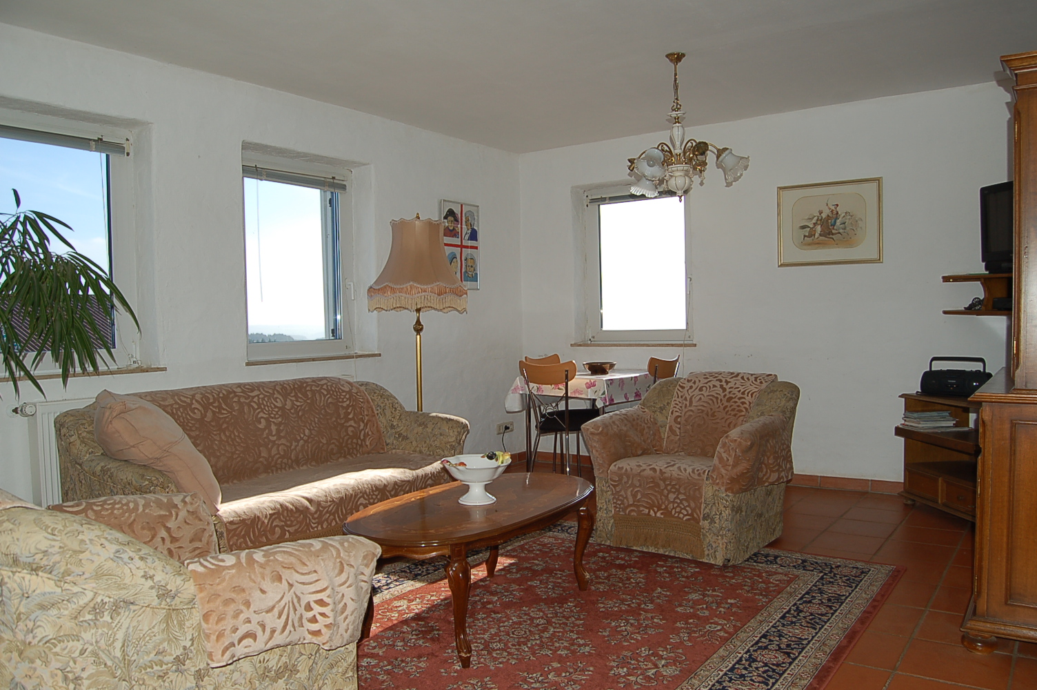Helle freundliche ferienwohnung bis 2 personen 45 qm for Wohnzimmer 80 qm